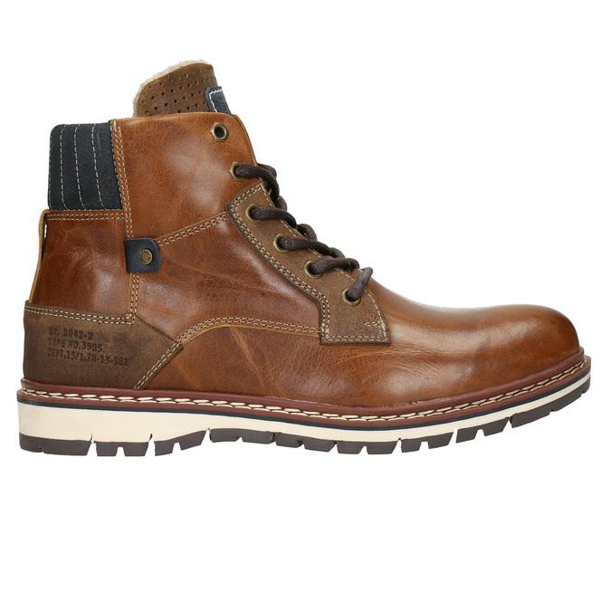 Skórzane zimowe buty męskie bata, brązowy, 896-3666 - 15