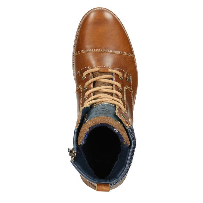 Buty męskie za kostkę bata, brązowy, 896-3669 - 15