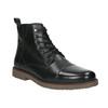 Skórzane ocieplane buty za kostkę bata, czarny, 896-6662 - 13