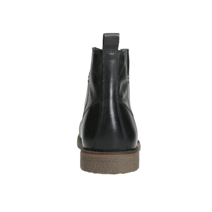 Skórzane ocieplane buty za kostkę bata, czarny, 896-6662 - 17