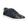 Skórzane trampki męskie bata, czarny, 846-6643 - 13