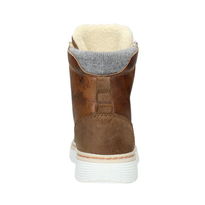 Zimowe buty damskie ze skóry bata, brązowy, 596-4684 - 16