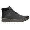 Skórzane zimowe buty męskie bata, czarny, 896-6672 - 15