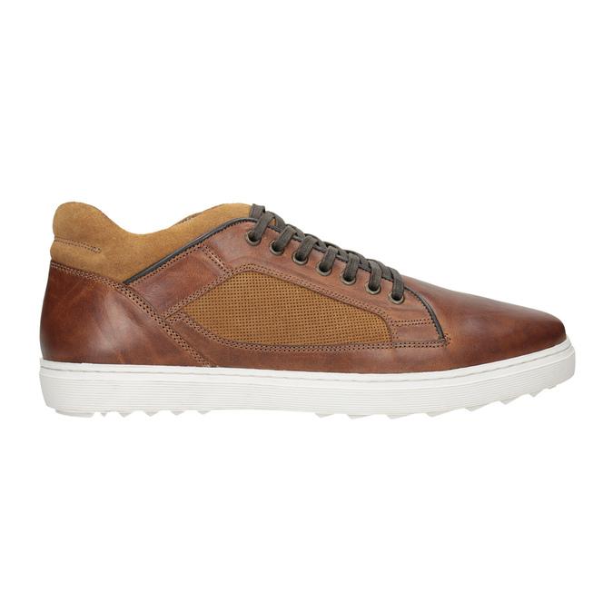 Skórzane trampki męskie bata, brązowy, 846-3643 - 26
