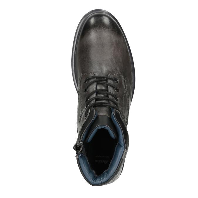 Zimowe skórzane buty męskie bata, szary, 896-2682 - 15
