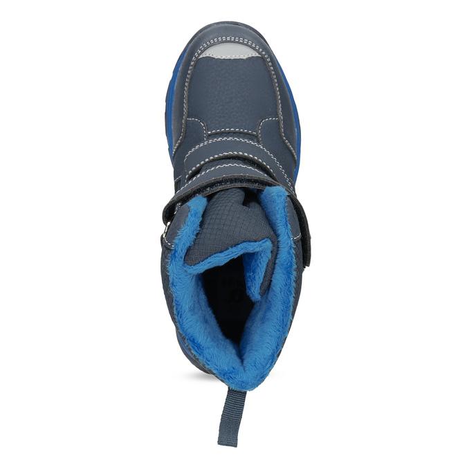 Zimowe buty dziecięce na rzepy mini-b, niebieski, 491-9653 - 17