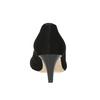 Skórzane czółenka zotwartymi noskami bata, czarny, 623-6603 - 16