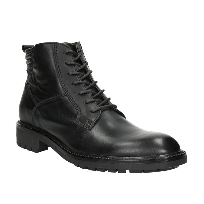 Skórzane buty męskie bata, czarny, 894-6695 - 13