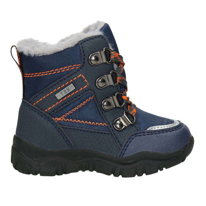Zimowe buty dziecięce zfuterkiem bubblegummer, niebieski, 199-9603 - 26