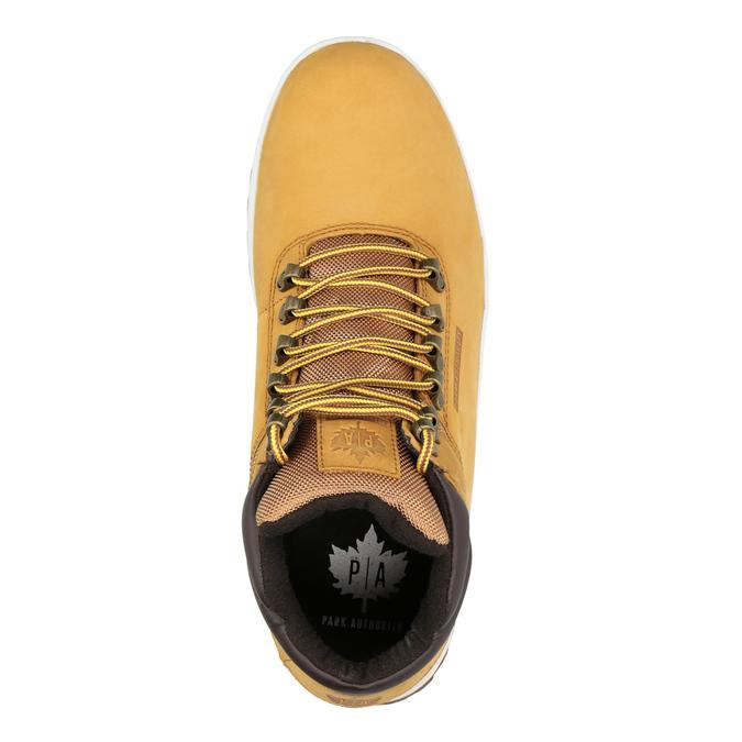 Zimowe skórzane buty męskie, brązowy, 806-3495 - 15