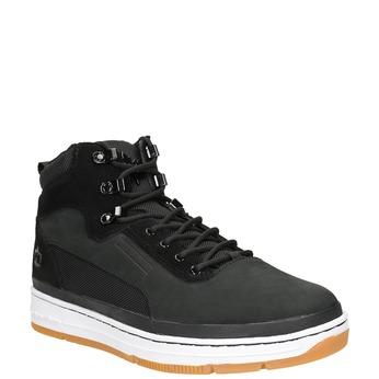 Skórzane obuwie męskie za kostkę k1x, czarny, 806-6552 - 13