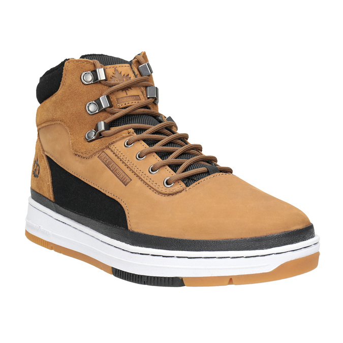 Skórzane buty męskie za kostkę, brązowy, 806-4552 - 13