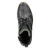 Skórzane buty męskie za kostkę bata, szary, 896-2669 - 15