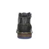 Skórzane obuwie męskie za kostkę zzamkami błyskawicznymi bata, szary, 896-2678 - 15