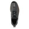 Skórzane obuwie męskie za kostkę zzamkami błyskawicznymi bata, szary, 896-2678 - 17