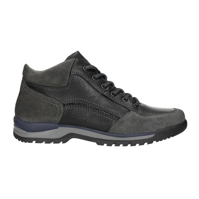 Nieformalne skórzane trampki męskie bata, czarny, 896-6705 - 26