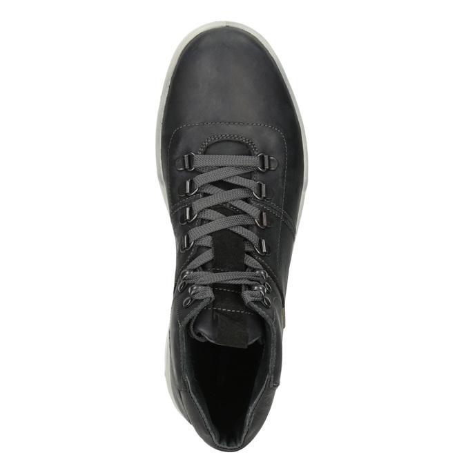 Skórzane zimowe buty męskie weinbrenner, czarny, 896-6701 - 15