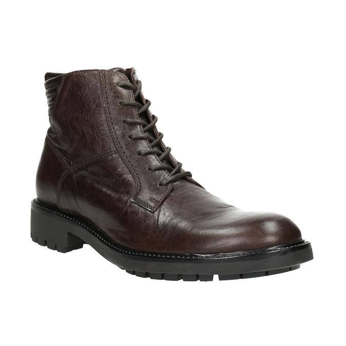 Skórzane obuwie za kostkę bata, brązowy, 894-4694 - 13