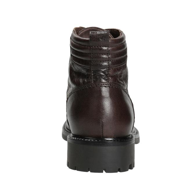 Skórzane obuwie za kostkę bata, brązowy, 894-4694 - 16