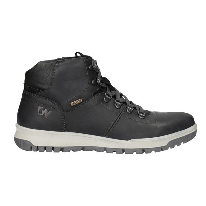 Skórzane zimowe buty męskie weinbrenner, czarny, 896-6701 - 26