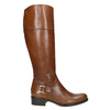 Skórzane kozaki damskie zklamrą bata, brązowy, 594-3427 - 15