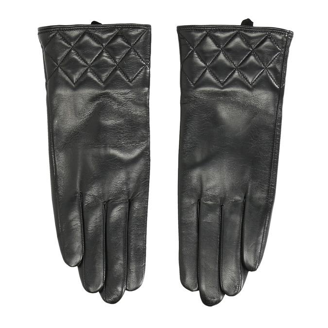 Czarne skórzane rękawiczki damskie bata, czarny, 904-6131 - 26