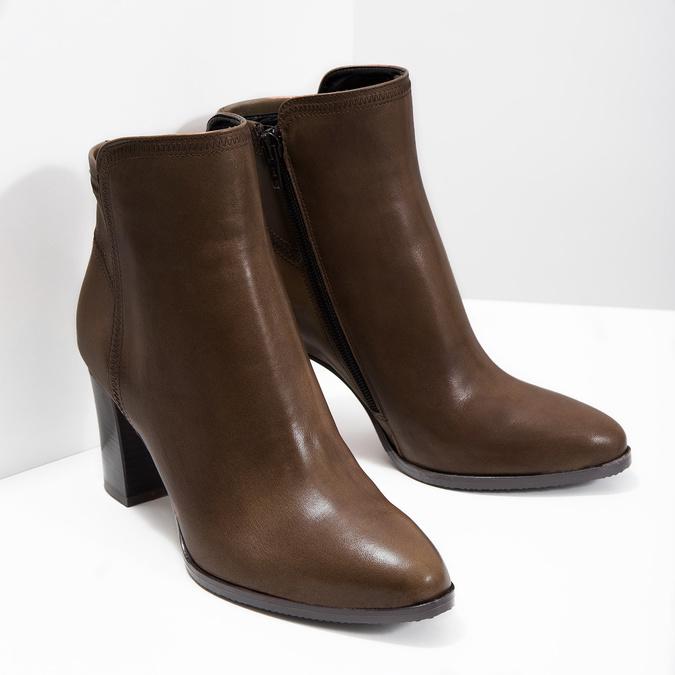 Skórzane botki bata, brązowy, 794-4650 - 18