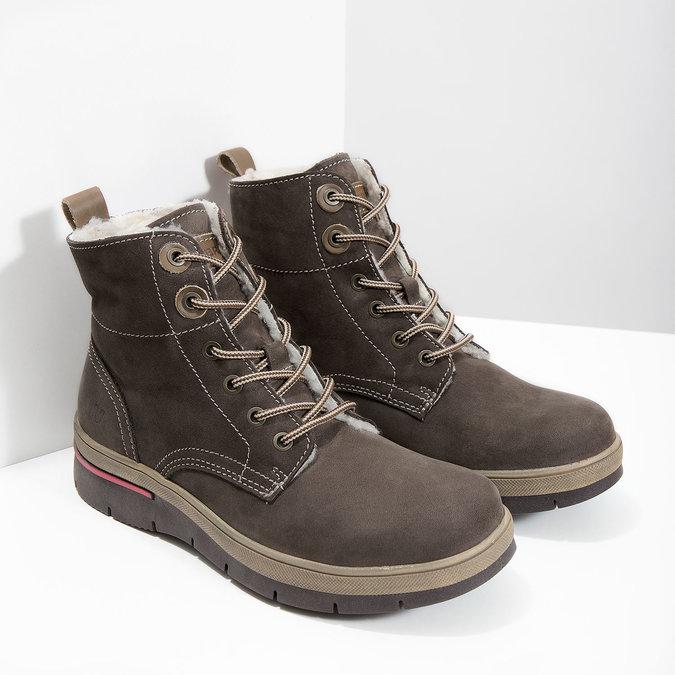 Zimowe buty damskie ze skóry weinbrenner, brązowy, 596-4666 - 18