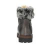 Skórzane buty zimowe zfuterkiem bata, szary, 594-6650 - 15