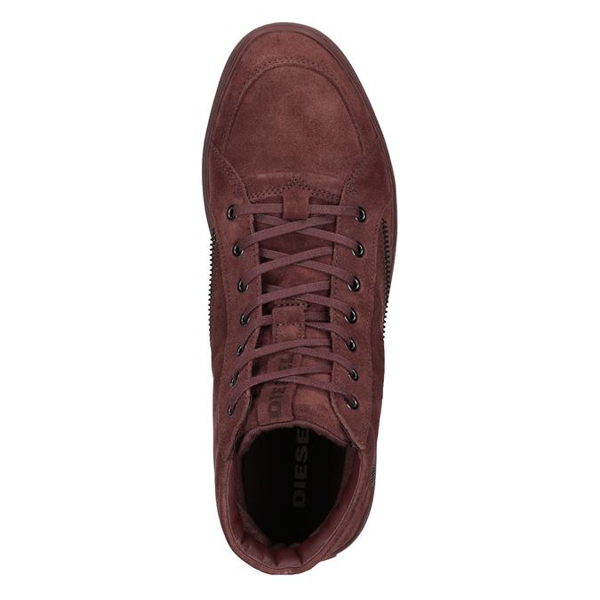 Męskie buty za kostkę diesel, czerwony, 803-5629 - 15