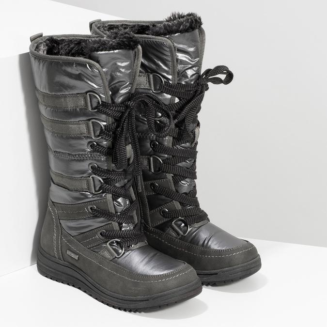 Damskie śniegowce na zimę bata, szary, 599-2619 - 26