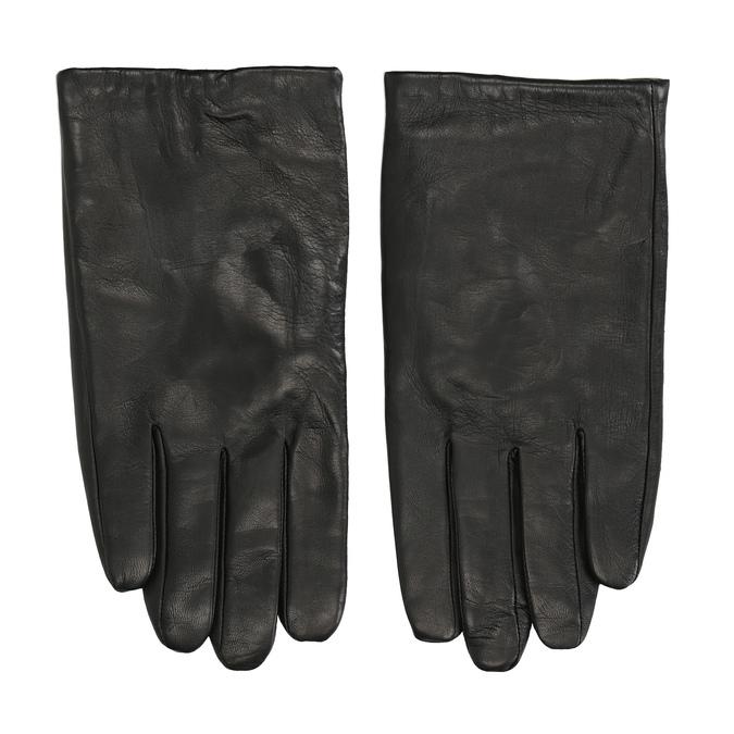 Czarne skórzane rękawice bata, czarny, 904-6130 - 26