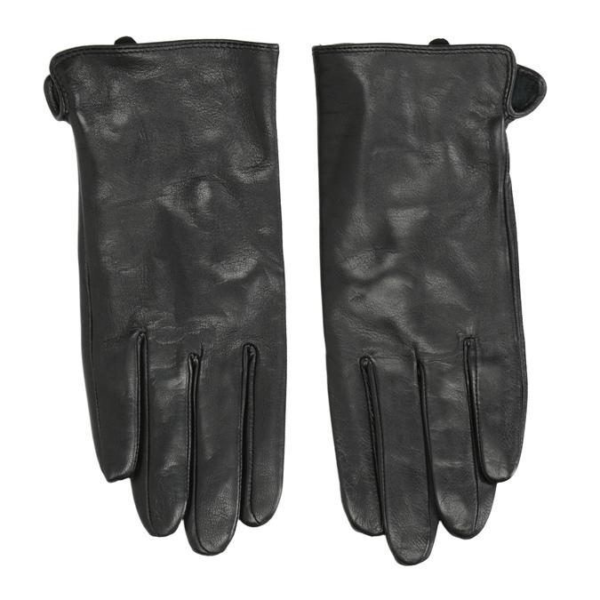 Skórzane rękawiczki damskie bata, czarny, 904-6129 - 26