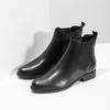 Skórzane obuwie damskie typu chelsea bata, czarny, 594-6661 - 26