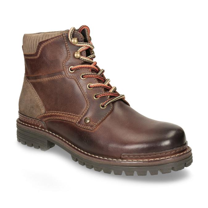 Skórzane buty zimowe za kostkę bata, brązowy, 896-4661 - 13