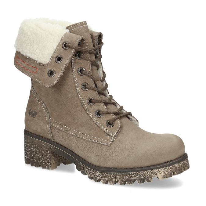 Zimowe buty damskie ze skóry weinbrenner, brązowy, 696-4336 - 13