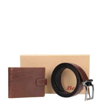Skórzany pasek iportfel wzestawie upominkowym bata, brązowy, 954-4200 - 13