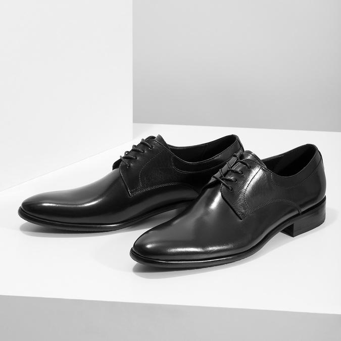 Skórzane półbuty męskie typu angielki bata, czarny, 824-6233 - 16