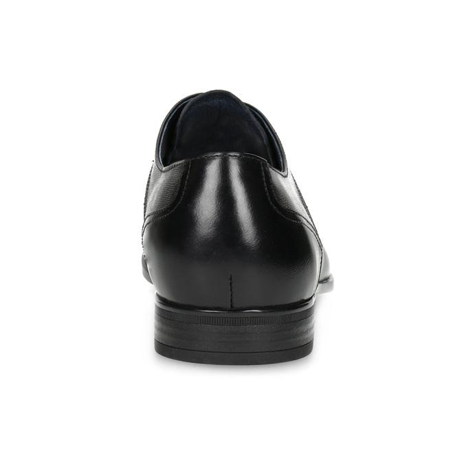 Czarne skórzane półbuty męskie bata, czarny, 824-6758 - 15