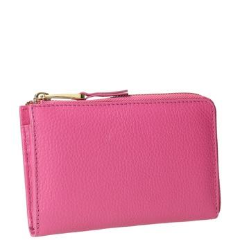 Różowy portfel ze skóry bata, różowy, 946-5284 - 13
