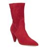 Czerwone skórzane kozaki wszpic bata, czerwony, 793-5612 - 13