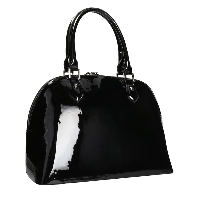 Czarna lakierowana torebka bata, czarny, 961-6849 - 13