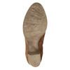 Skórzane botki zhaftem bata, brązowy, 696-4655 - 19
