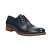 Granatowe skórzane półbuty bata, niebieski, 826-9810 - 13