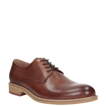 Brązowe nieformalne półbuty ze skóry bata, brązowy, 826-3853 - 13