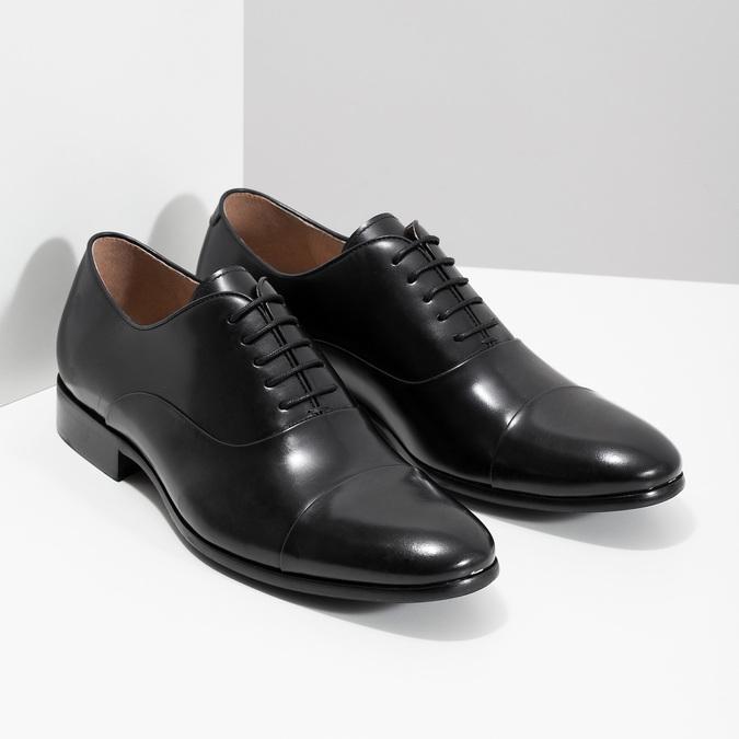 Czarne skórzane półbuty typu oksfordy bata, czarny, 824-6626 - 26