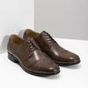Brązowe skórzane półbuty typu angielki bata, brązowy, 826-3863 - 26
