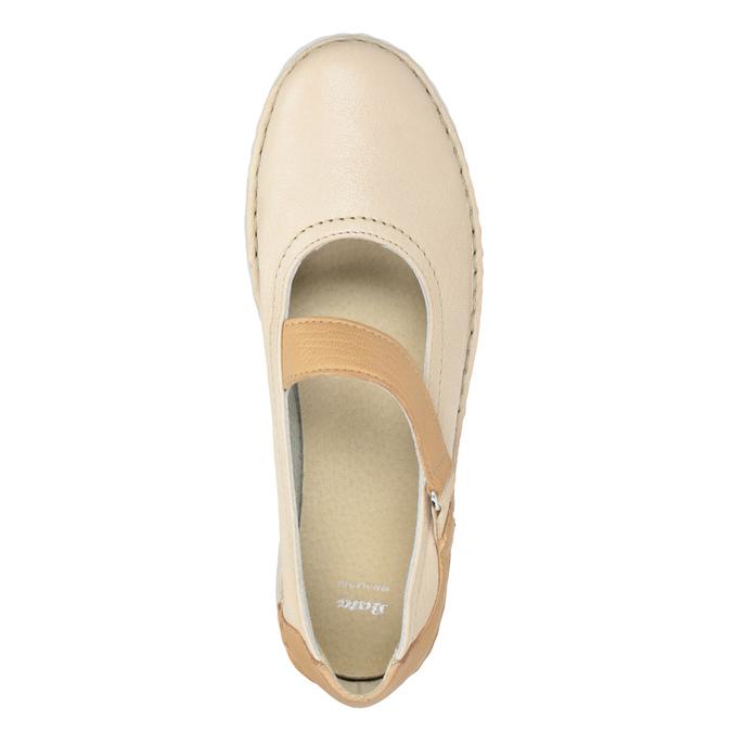 Skórzane baleriny damskie zpaskami bata, 526-8651 - 15