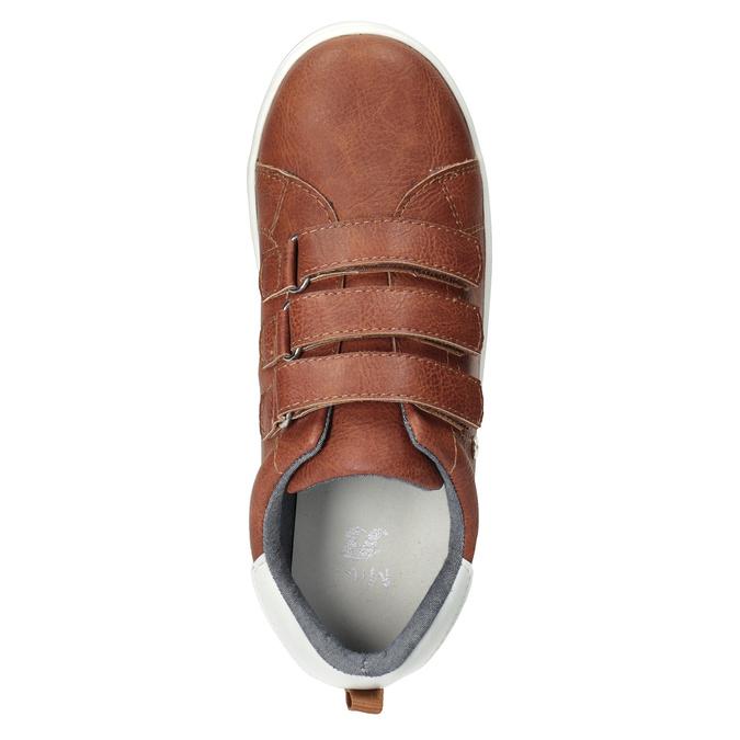 Brązowe trampki dziecięce zperforacją mini-b, brązowy, 411-4609 - 15