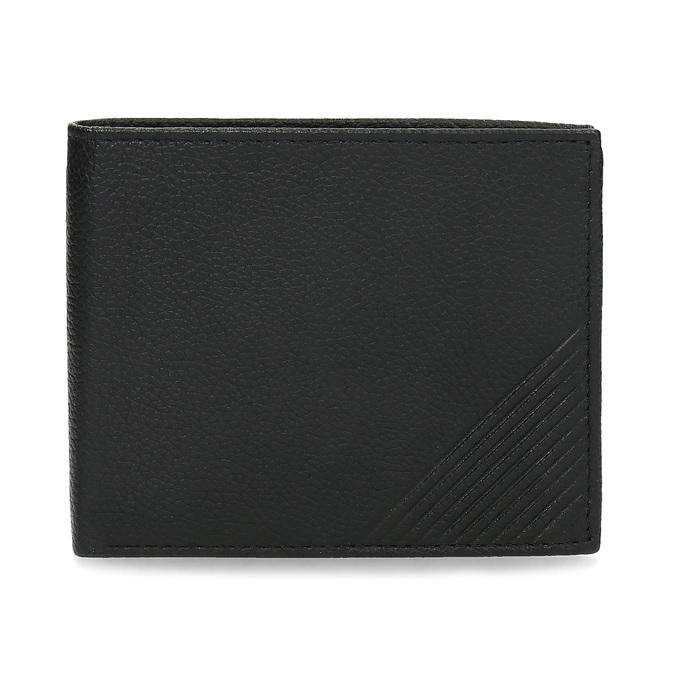 Skórzany portfel męski zrowkami bata, czarny, 944-6206 - 26